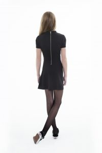 Frankie & Liberty, Casey dress back. achterkand Casey dress, tiener meiden mode, frankie en liberty, frankie and liberty, little black dress girls, sjieke jurk tienermeiden,